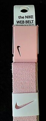 NIKE GOLF the NIKE WEB BELT, WOMENS PINK, FITS 0-42, ADJUSTABLE, BRAND NEW