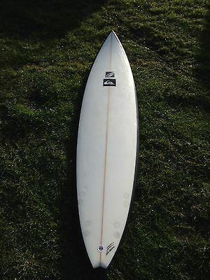 "Surfboard New Phil Grace 7""4 Swallow Tail gun Quad Or Thruster"