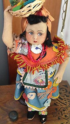 RARE Antique JOAO PEROTTI (Lenci Designer) Felt Doll, All Original and GORGEOUS!
