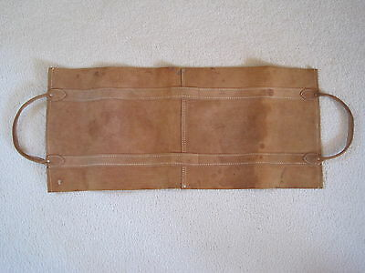 Rawhide Leather Firewood Log Carrier