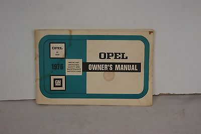Opel Owner's Manual 1976 GM Isuzu Operating Maintenance Instuctions