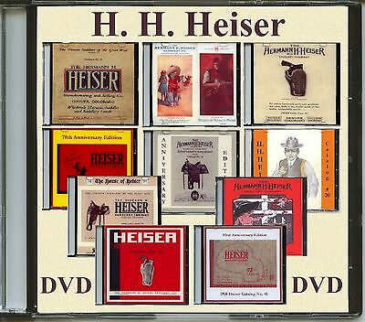 10 H.H.Heiser Catalogs on DVD.  Saddles, Bits, Spurs, Gun Leather and more