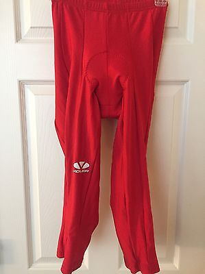VOLER Men's Red Padded Tights Cycling Pants size Large EUC Worn Once
