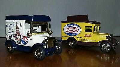 The National Motor Museum Mint Golden Wheel Diecast Pepsi-Cola Delivery Trucks