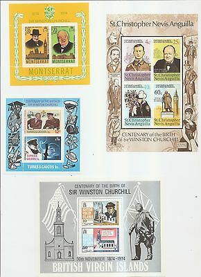 British Commonwealth - Mint Souvenir Stamps - Various Countries.