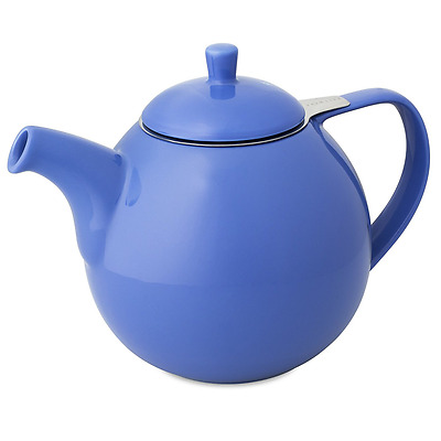 FORLIFE Curve Teapot with Infuser, 45-Ounce, Blue