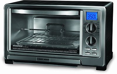 BLACK+DECKER TO1021BC Infrared Oven with Rotisserie, Silver