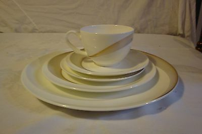 Wedgwood Tranquility 5Pc Setting Dinner Plate B+B Plate Salad Saucer Teacup