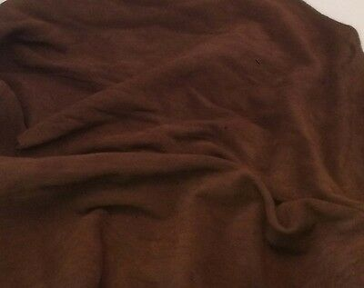 SUEDE Chocolate Brown Lambskin Leather Hide Piece #34