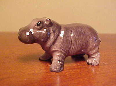 RETIRED Hagen-Renaker Mini 3193 HIPPO BABY Miniature Ceramic Hippotamus Figurine