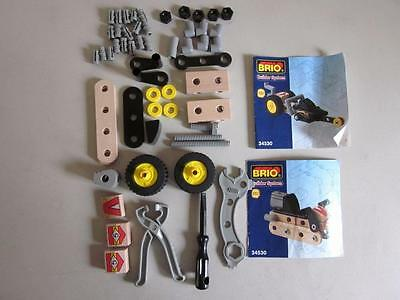BRIO BUILDER SYSTEM Dragster & Scooter Parts & Instructions 55 Pcs Manuals Tools
