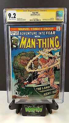 Adventure Into Fear #20 Cgc Ss 9.2 Signed By Stan Lee 1St App Of Howard The Duck