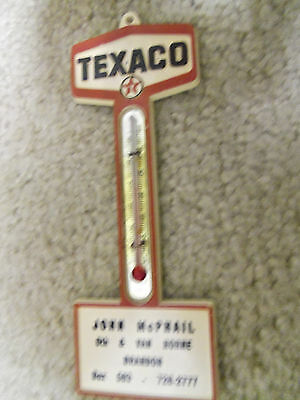 Texaco Canadian Gas Oil Pole Sign Thermometer -Vintage