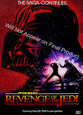 "Revenge Of The Jedi - Professionally Printed 12X18"" Movie Poster. Rare Vintage"