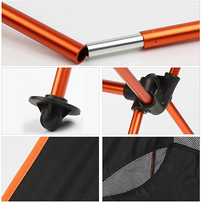 Ultralight Portable Folding Outdoor Camping Chair for Hiking Picnic Fishing with