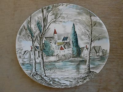 """Johnson Brothers """"Dreamtown"""" Large Dinner Plate Mint Condition England"""