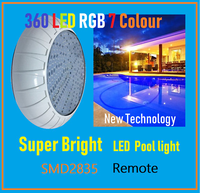 New Technology 360 Led Ss Super Bright Smd2835  Pool Light 7 Rgb / Remote