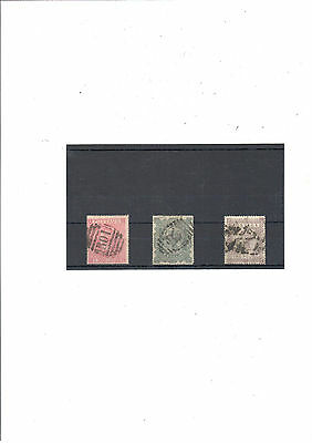 Great Britain 1867/83 Sg126/128 and 129 FU stamps.Cat. 7875.00 pounds