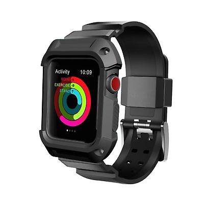 For Apple Watch Band, UMTELE Rugged Protective Case with Bands for Apple Watc...