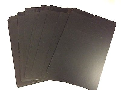 "30 Black Comic Book Dividers Brand New 11"" X 7"" Economy Durable Glossy Matte"