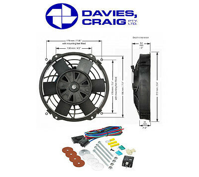 Davies Craig 8 Inch 12V Electrical Thermo Fan w/ Mounting Kit