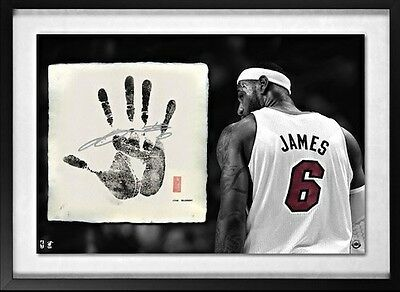 Lebron James Hand Signed Tegata UDA LE 106