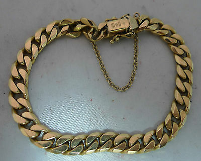 Vintage 9ct Yellow Gold Chain Bracelet 20.90g