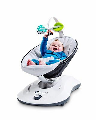4 Moms Rockaroo Baby Rocker Bouncer Swing Silver Plush #`01-071901