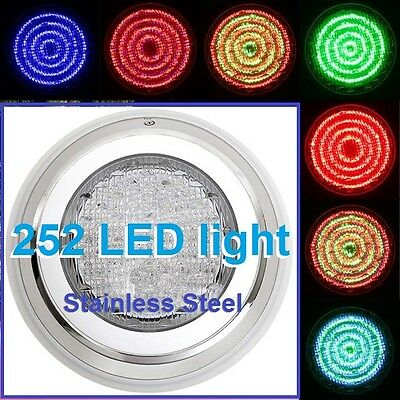 New_ Design Stainless Steel Swimming Pool Spa Wall 252 LED Lights RGB7 Colour