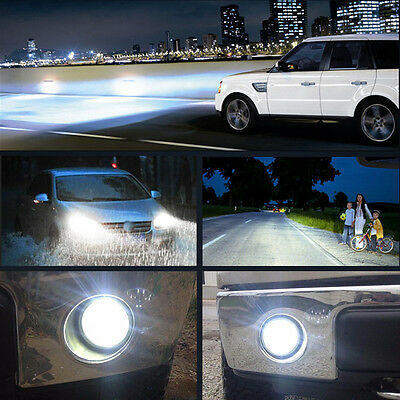 2 x High Power 50W H10 Fog Light Driving Bulbs 6000K Cool White 9145 950LM GHES