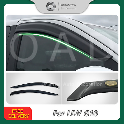 Luxury Premium Weather Shields Weathershields Window Visors for LDV G10 16-19