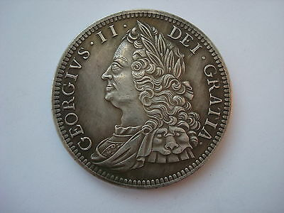 British England Crown 1746 King George II Great Britain UK