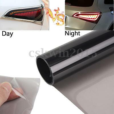 Light Black Car Headlights Taillight Film Fog Lights Sticker Tint Film 30X120cm