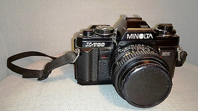 Minolta x-700 film camera with 50mm lens f 1.8