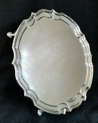 A sterling silver Chippendale Design Salver. Sheffield 1973. By Francis Howard
