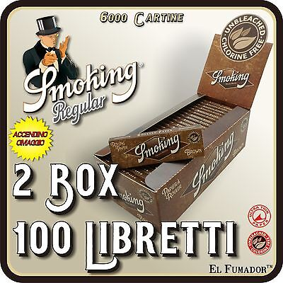 6000 Cartine SMOKING BROWN CORTE - 2 Box 100 Libretti - MARRONI NO CLORO