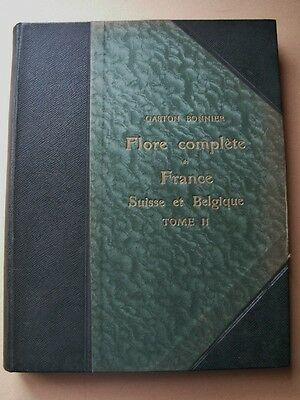 Gaston Bonnier Flore Complete 60 Planches Couleurs 1910 T.2 Botanique Science