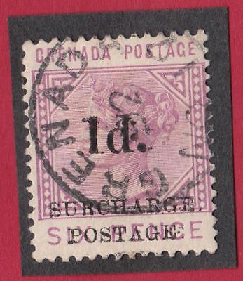 GRENADE -TAXE N° 4 - 1.d.6 .p    STAMP WITH OBLITERATION  catalog :5 €