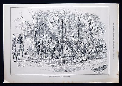 Grafton Hunt At Castlethorpe Buckinghamshire Hunting Victorian Print 1883