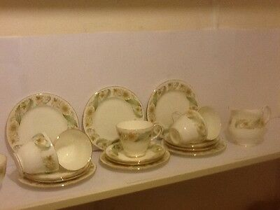 """Lovely English Duchess China 19 Piece""""greensleeves"""" Tea Set  No Reserve"""