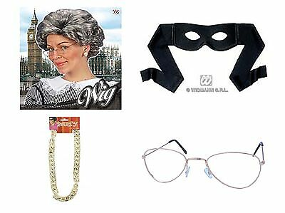 Gangster Granny Gangsta Old Lady Oap Grey Robber Book Week Burglar Mask Wig Swag