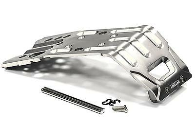 INTEGY Silver BILLET MACHINED NEW T2 ALLOY SKID PLATE HPI SAVAGE XL FLUX & X4.6