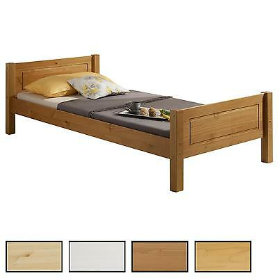 holzbett einzelbett doppelbett landhausbett kiefer in 4 farben und 6 gr en eur 79 95. Black Bedroom Furniture Sets. Home Design Ideas
