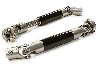 INTEGY Black B Machined Stainless Steel Center Drive Shafts Axial SCX-10 Crawler