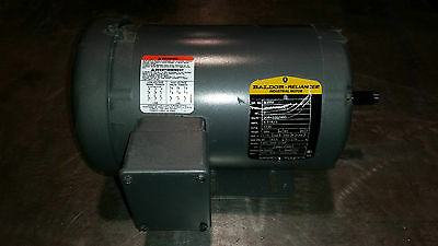 Baldor #M3558 2HP Motor, 208-230/460 Vac, 3 phases, 1735RPM(scratched nameplate)