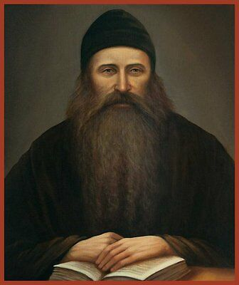 Fr. Seraphim Rose Russian Orthodox icon Solid Wood Panel (not antique)