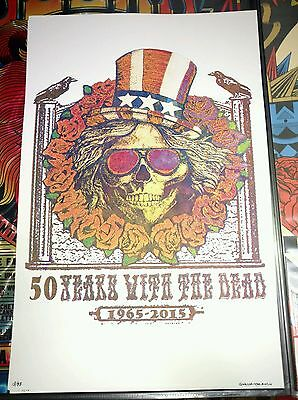 grateful dead poster fare thee well Uncle Sam GD50  posters  screen print phish