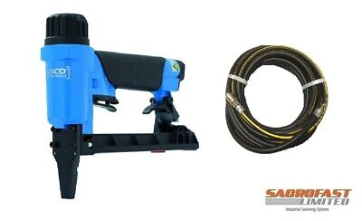 Fasco 71 Type Long Nose 50Mm Upholstery Air Stapler 6-16Mm With Air Hose