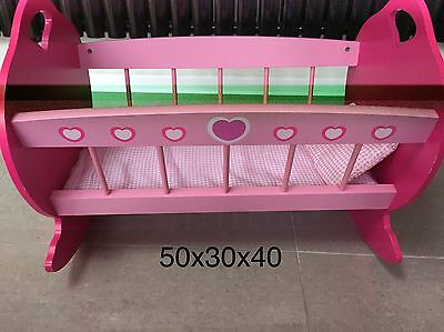 Baby Doll Wooden Cot