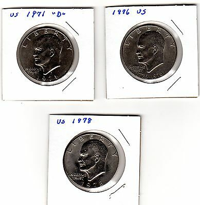 1971d, 1976 and 1978 US Dollars